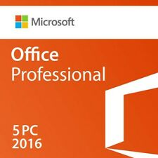MS Office Pro ( 5 USERS ) Software 2016 @microkeys.com