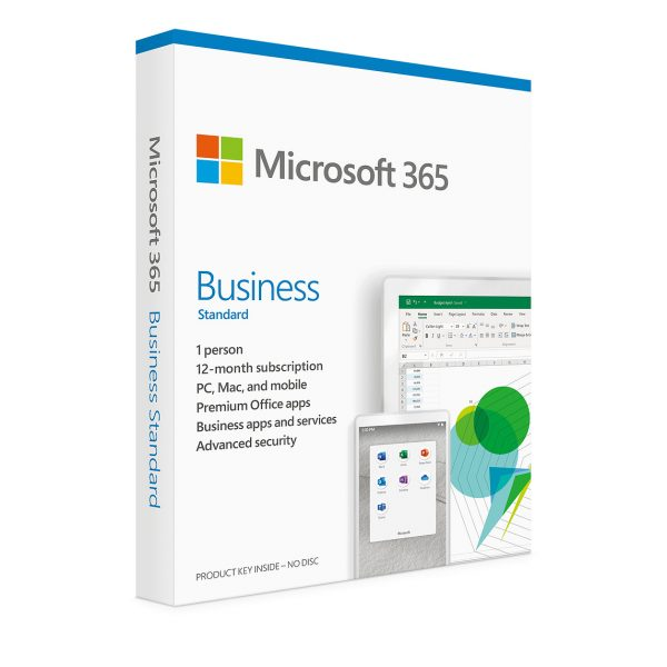 Microsoft 365 Business Standard 2019, 1 Year Subscription, 1-User/5-PC/MaC Key