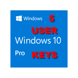 win 10 5 Pro user keys
